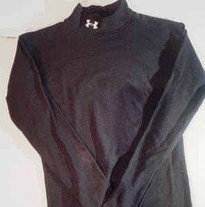 UNDER ARMOUR BLACK MOCK TURTLE NECK LONG SLEEVE
